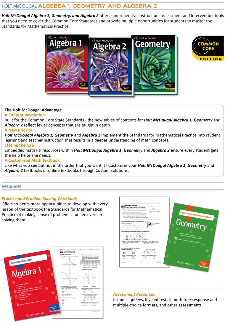 Why is geometry between algebra 1 and 2