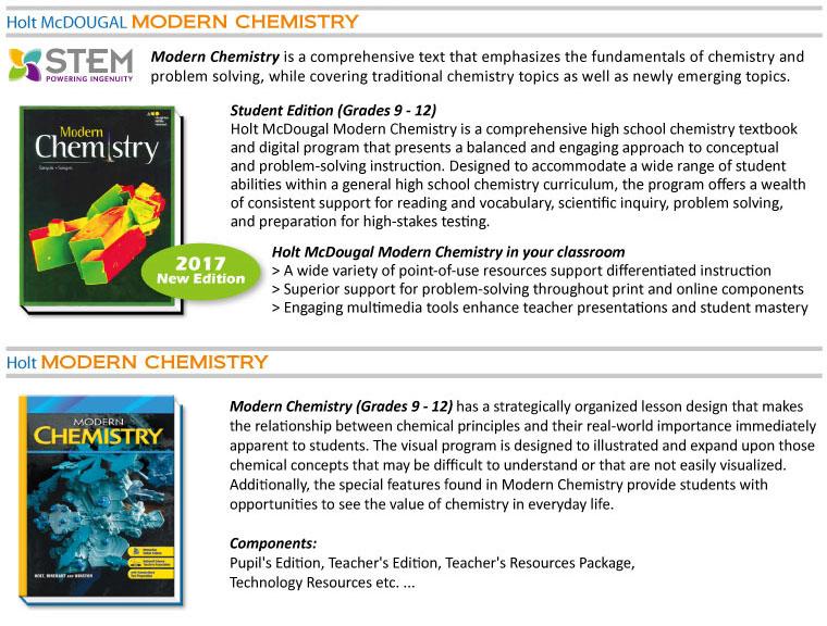Science - Modern Chemistry