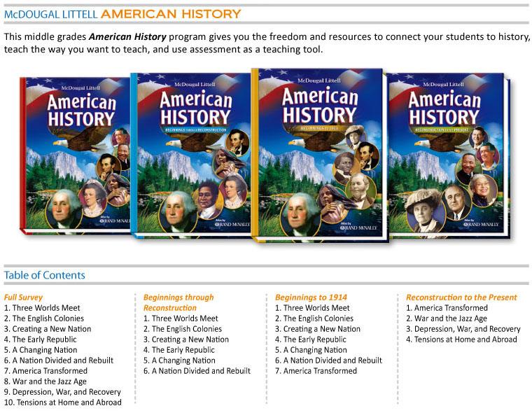 Social Studies - McDougal Littell Americean History